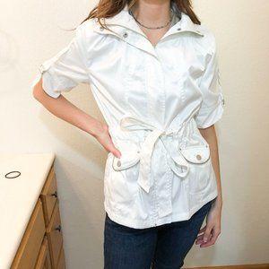 Jou Jou White Short Sleeve Jacket Size Small